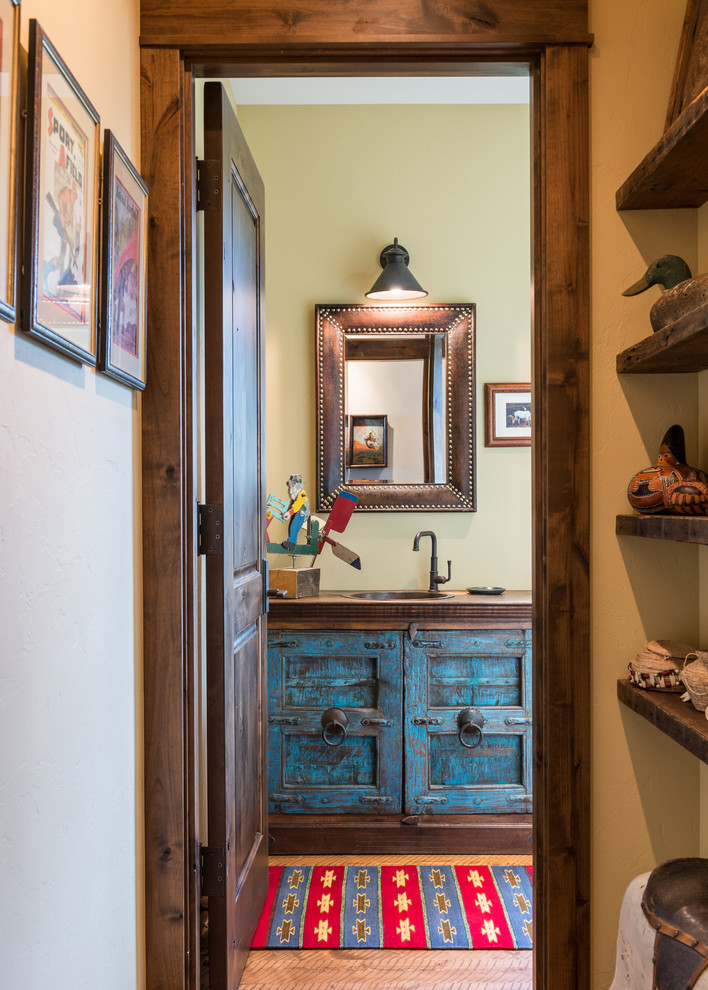 Southwestern Powder Room Design