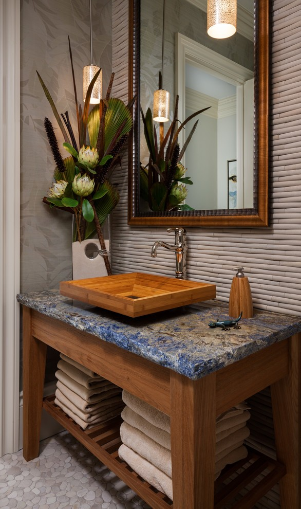 Tropical Powder Room Design