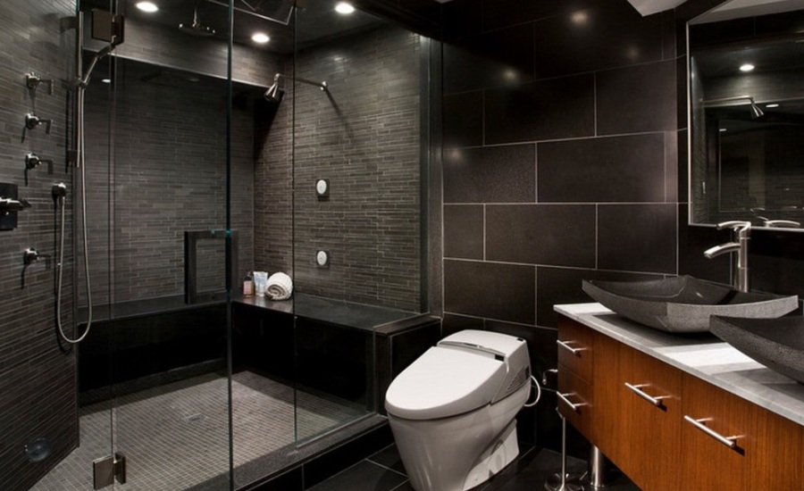 black-modern-bathroom-shower-design