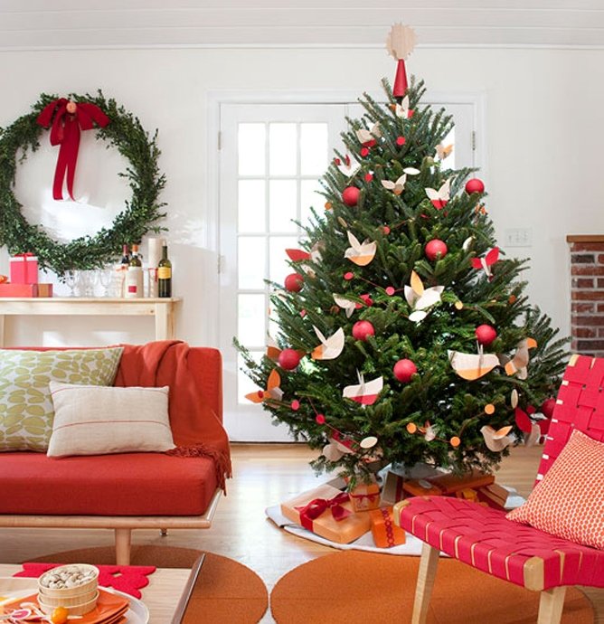 green-christmas-tree-decorating-ideas