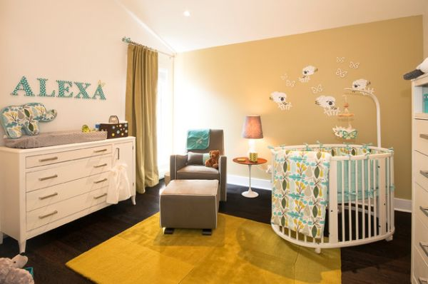 Cool Modern Baby Room Round Baby Crib Designs
