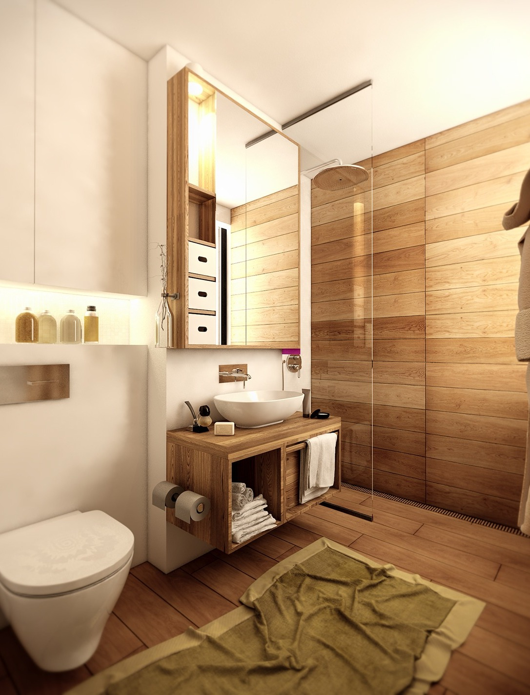 modern-bathroom-with-wood-floor