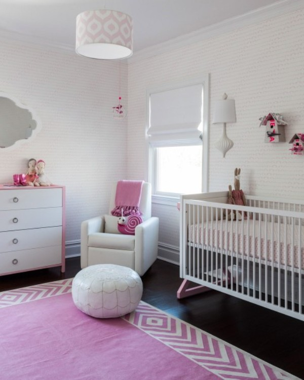 pink-color-modern-nursery-deasign