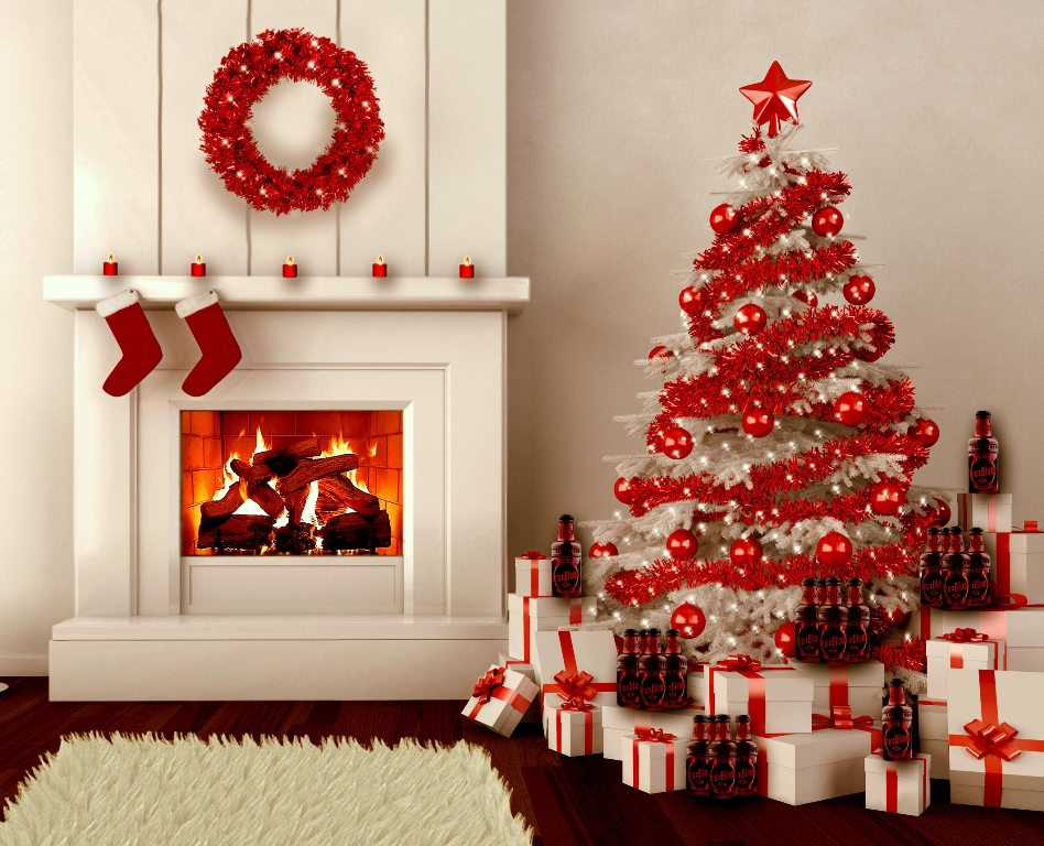 red-white-color-christmas-tree-decoration