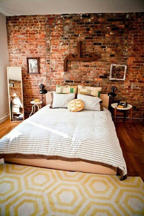 brick-wallpaper-in-a-bedroom