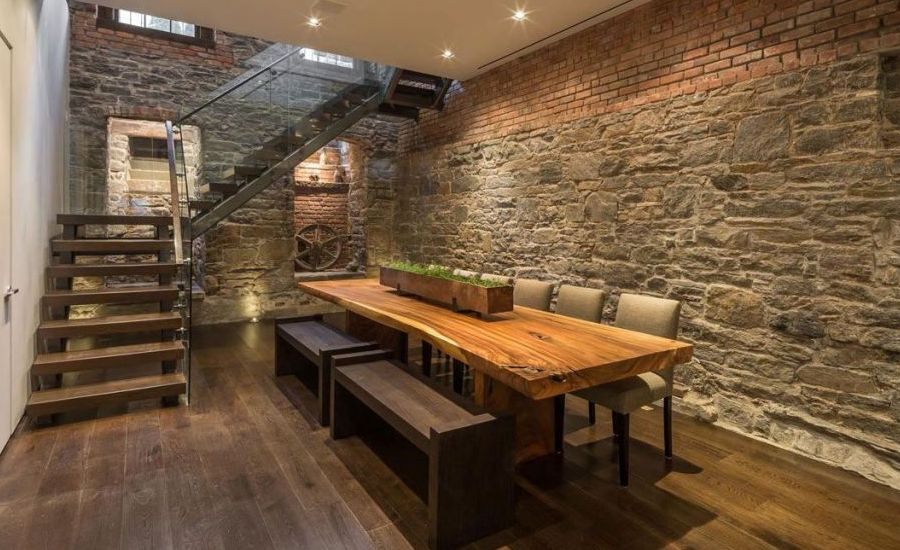 basement-rustic-dining-room-tables