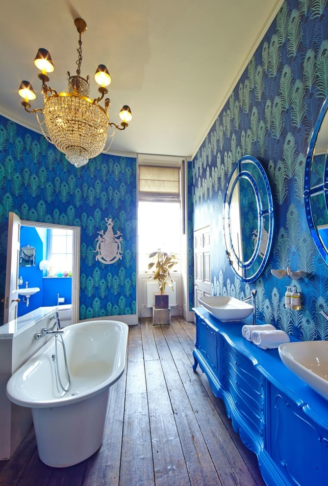 Eclectic Kids Bathroom