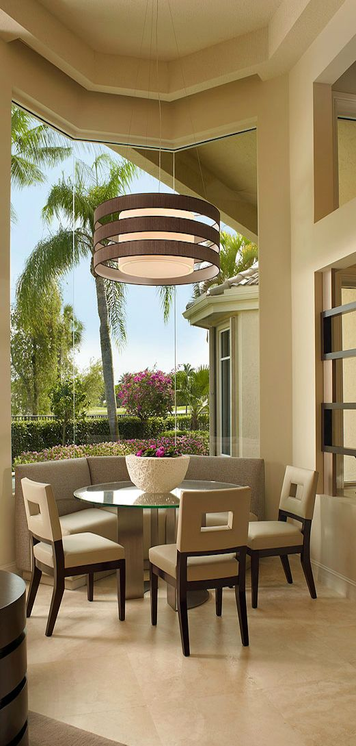 Neutral Outdoor Contemporary Dining Room