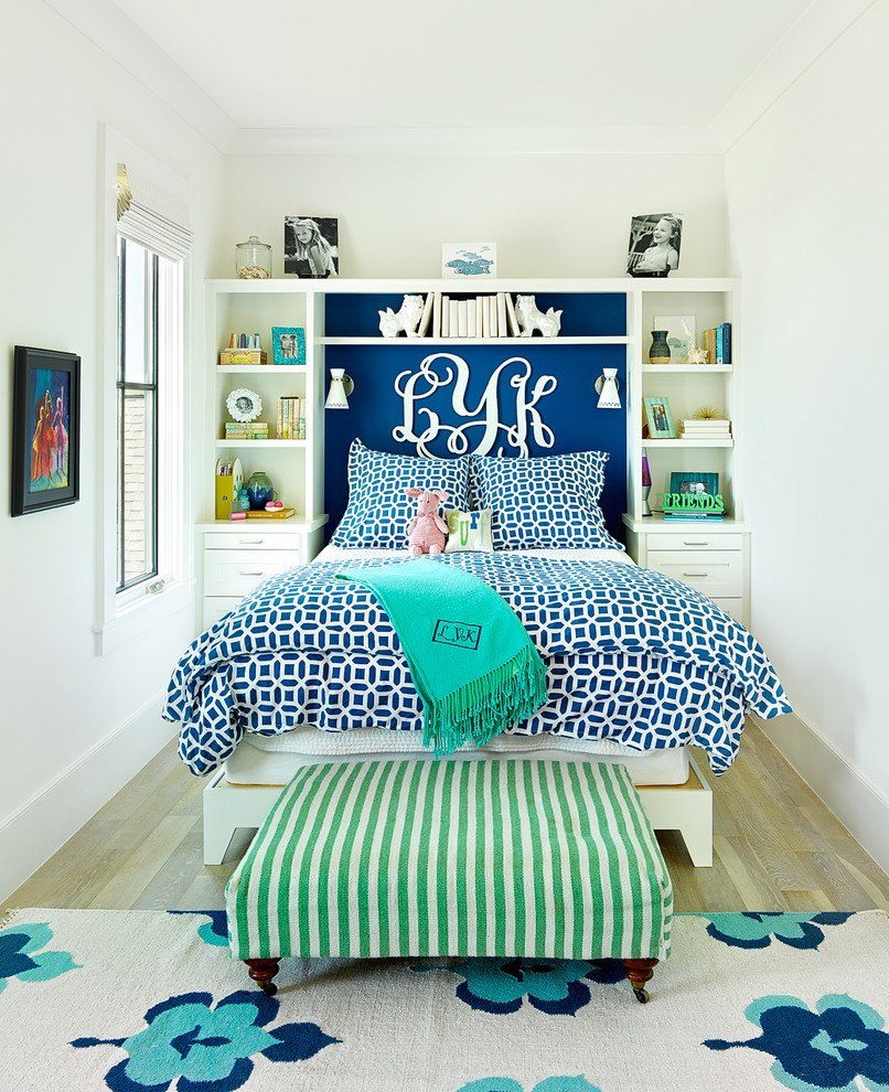 Beach Style Colorful Kids Bedroom