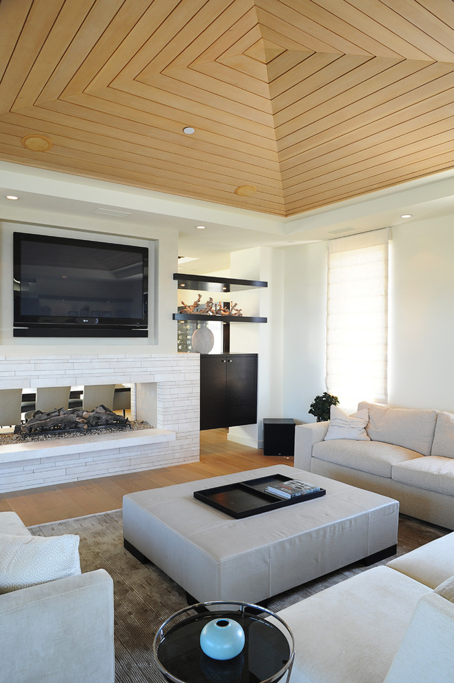 Beach Style Tv Room Design