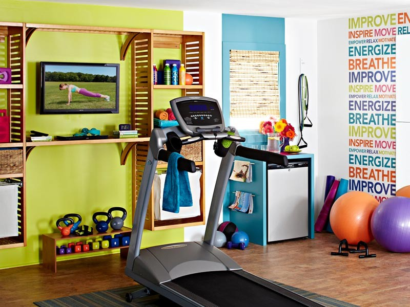 Eclectic Home Gym Design