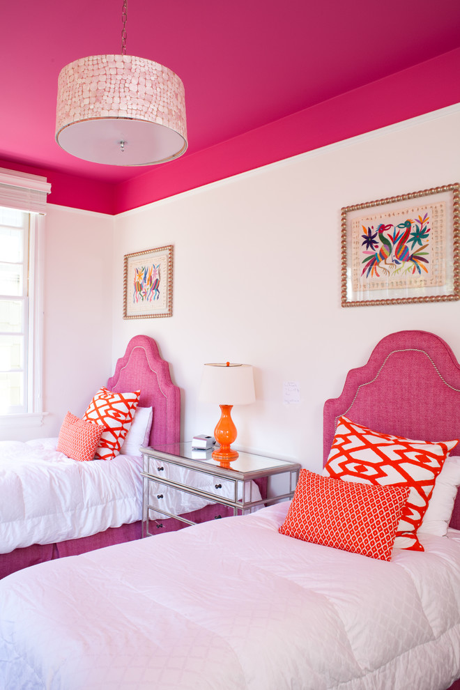 Transitional Colorful Kids Bedroom