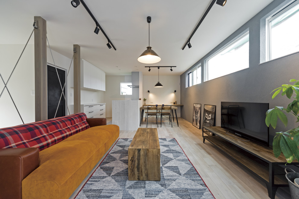 Small Industrial Living Room