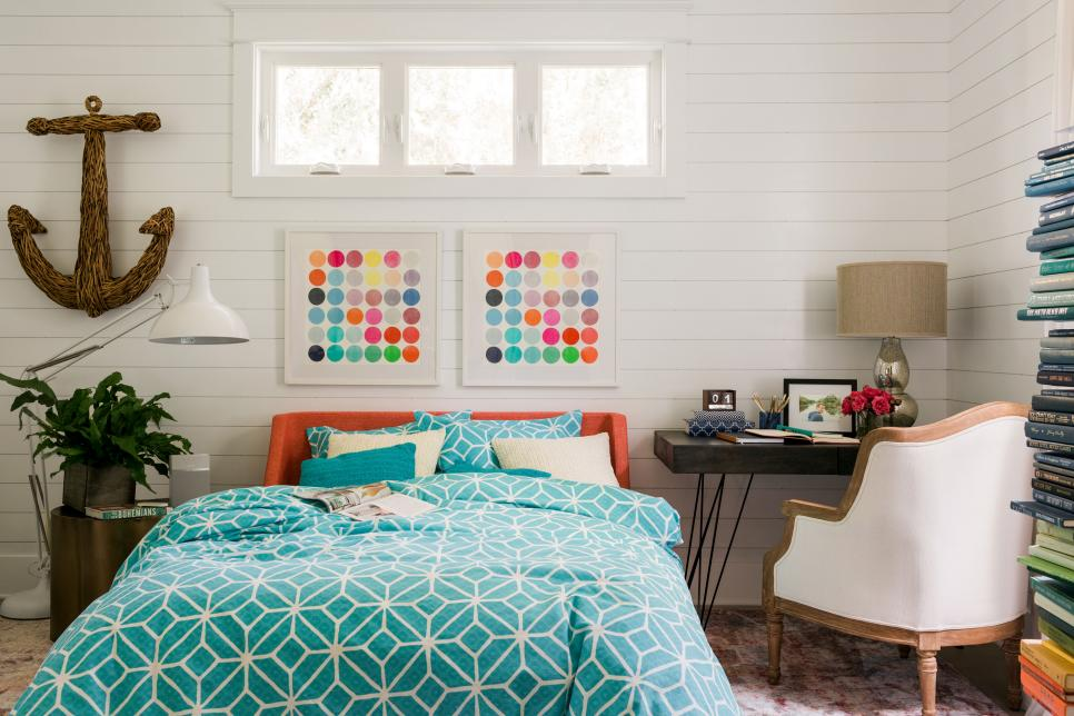 Bright Bohemian Style Bedroom Design