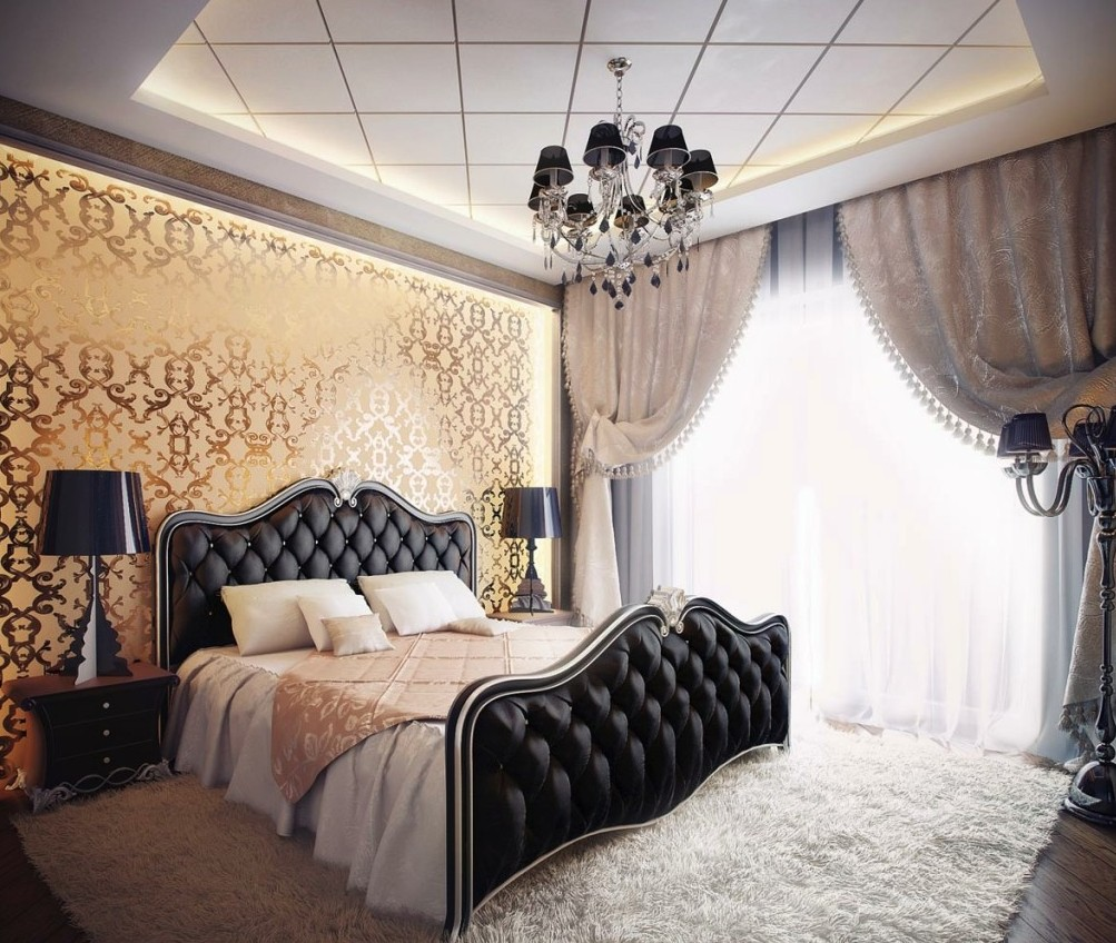 Elegant Black and White Bedroom Design