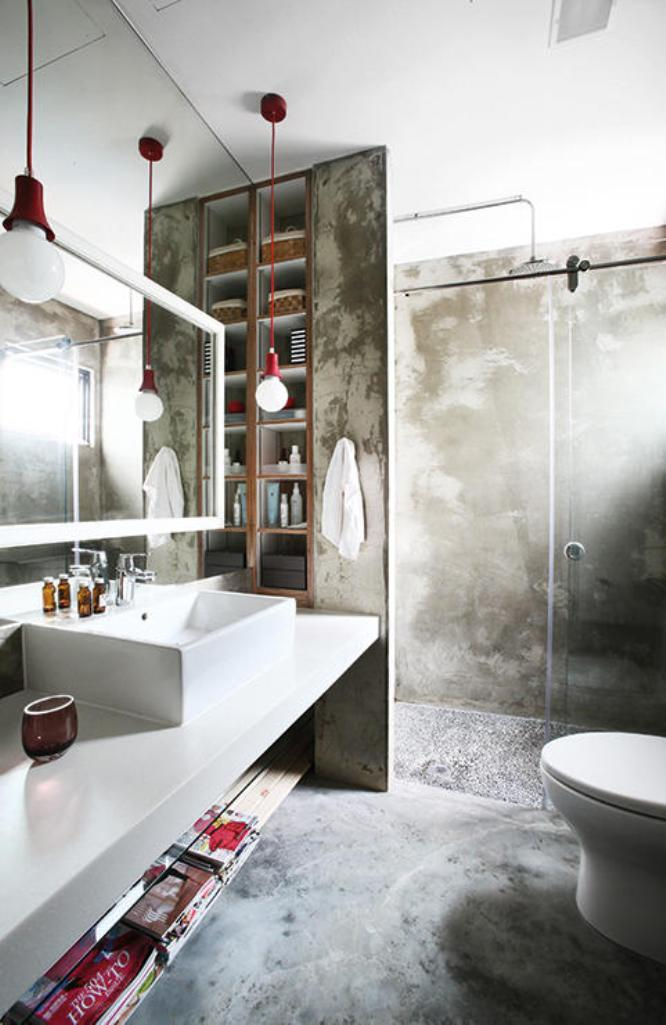 Bold Industrial Bathroom Design