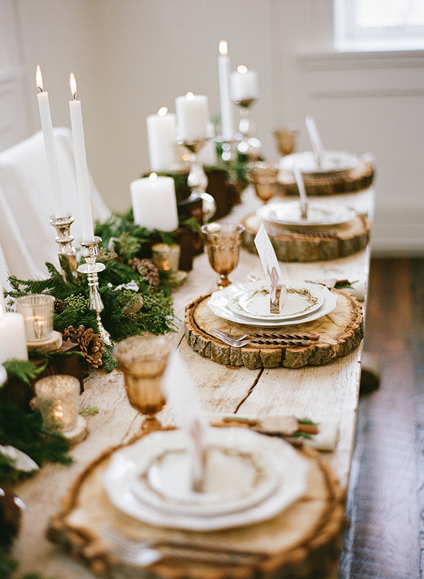 Rustic Reclaimed Wood Table Decoration