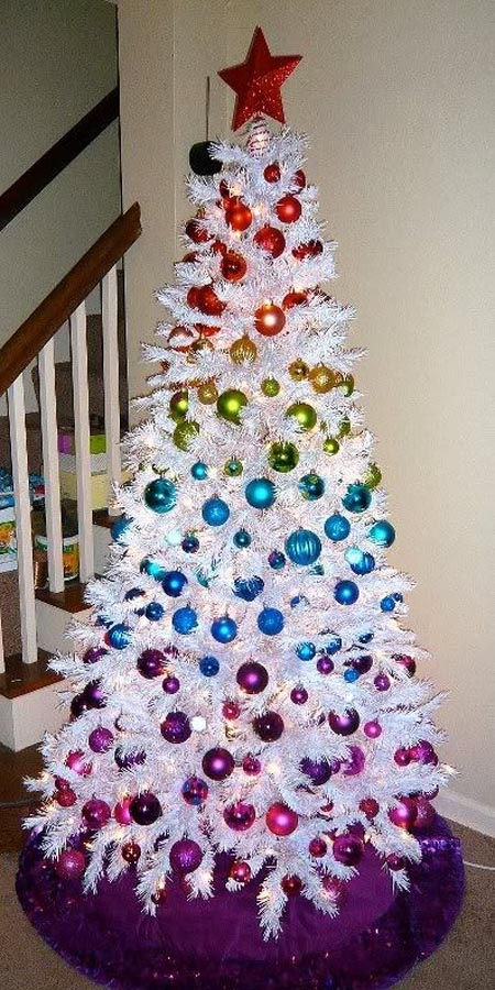 A Rainbow Christmas Tree dwellingdecor