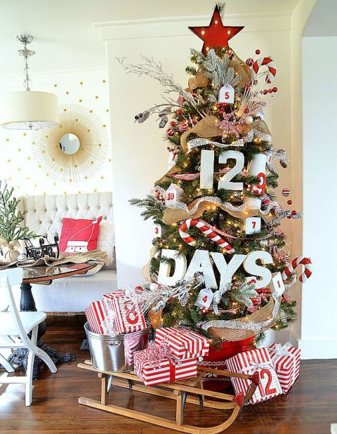 Count Down Christmas Advent Tree dwellingdecor