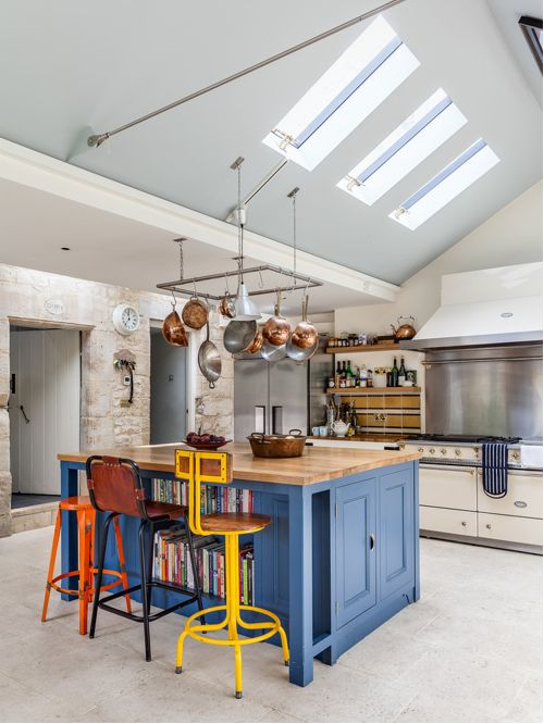 Eclectic Kitchen Design With with Recessed Panel Dwellingdecor
