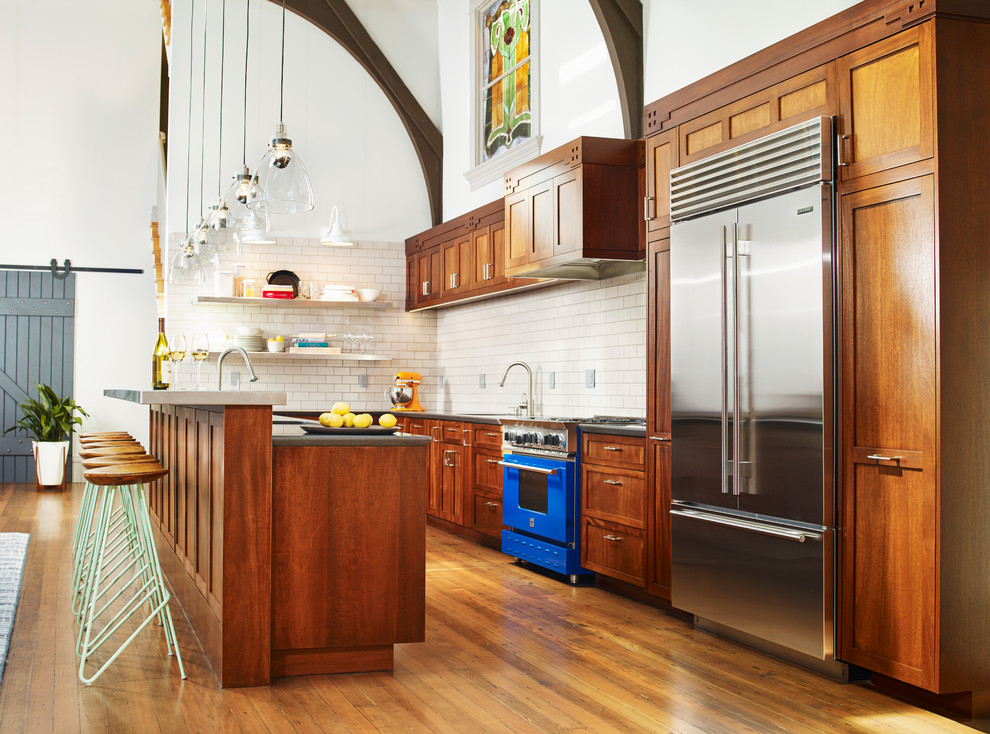 Expansive Eclectic KItchen in Grand Hall Dwellingdecor