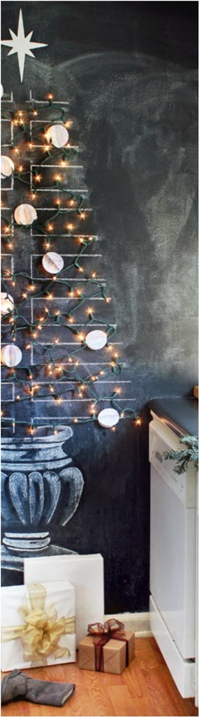 Kitchen Chalkboard Christmas Tree dwellingdecor