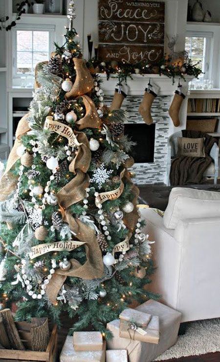 Rustic Christmas Trees dwellingdecor
