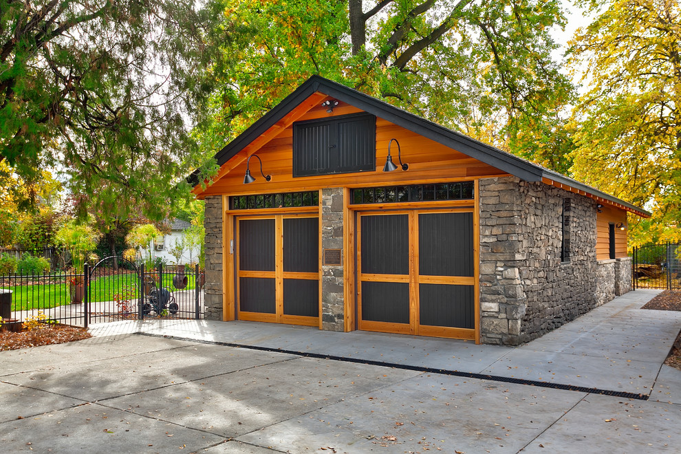 Craftsman Style Garage Design Dwellingdecor