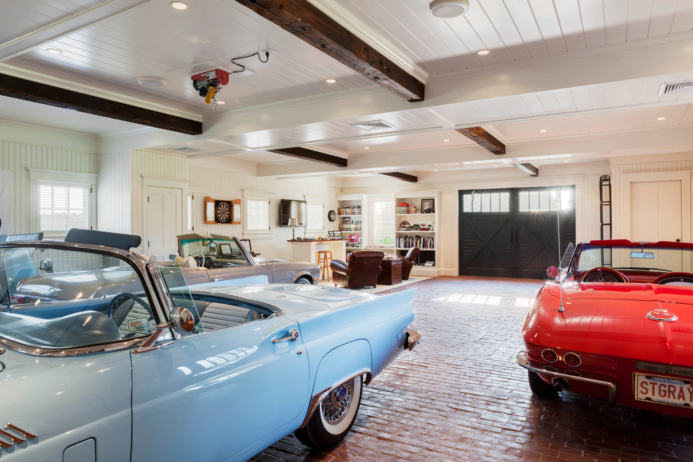 Huge Beach Style Three-car Garage Dwellingdecor