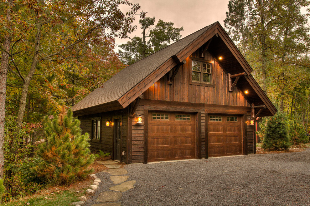 Rustic Detached Garage Dwellingdecor