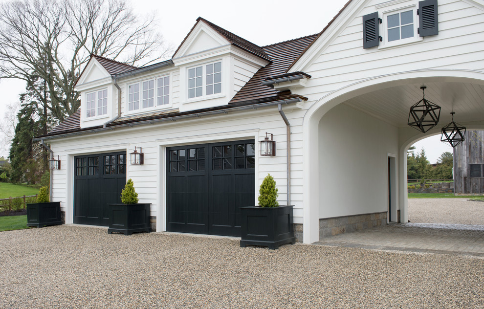 Traditional Detached Garage With Large Compound Dwellingdecor