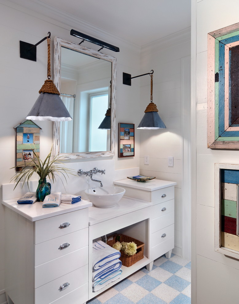 Beach Style Bathroom Lighting Ideas Dwellingdecor