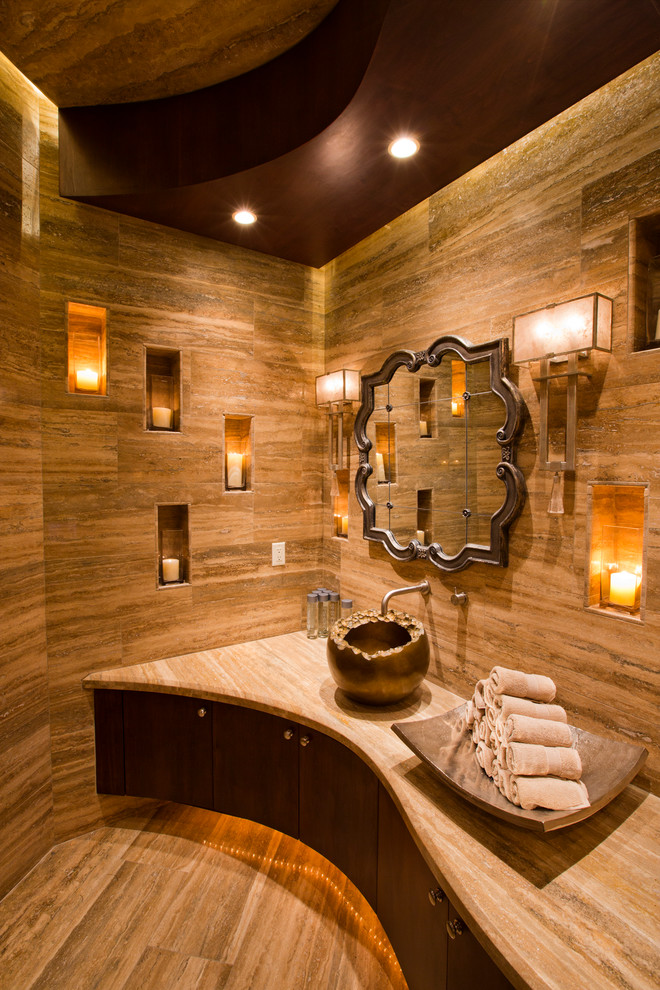 Mediterranean Bathroom Lighting Ideas Dwellingdecor