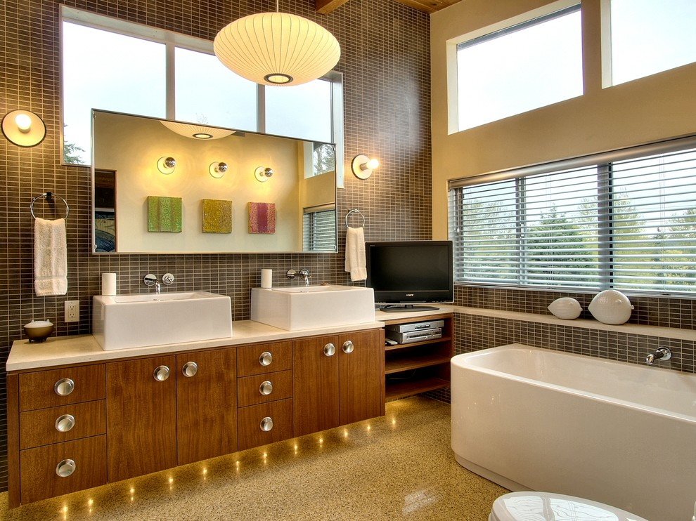 Midcentury Bathroom Lighting Ideas Dwellingdecor