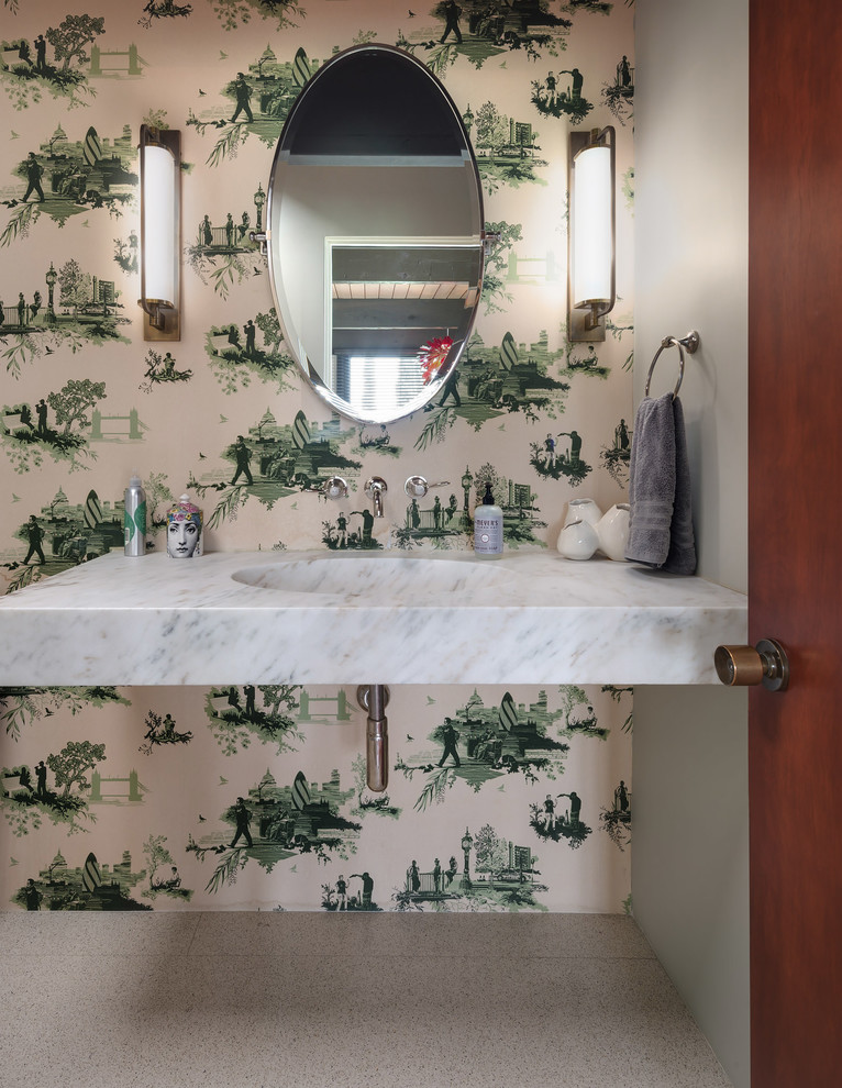 Midcentury Powder Room Dwellingdecor