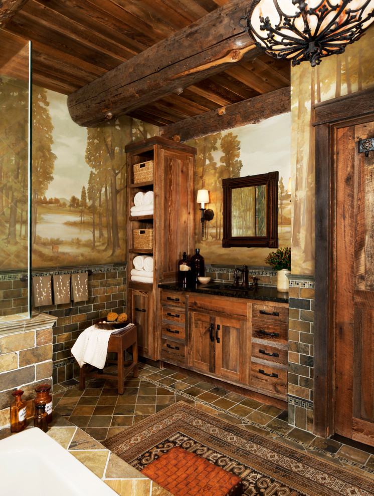 Rustic Bathroom Lighting Ideas Dwellingdecor
