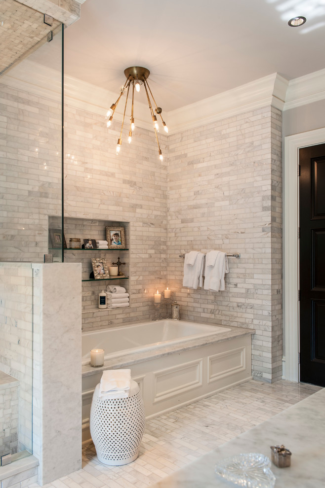 Transitional Bathroom Lighting Ideas Dwellingdecor