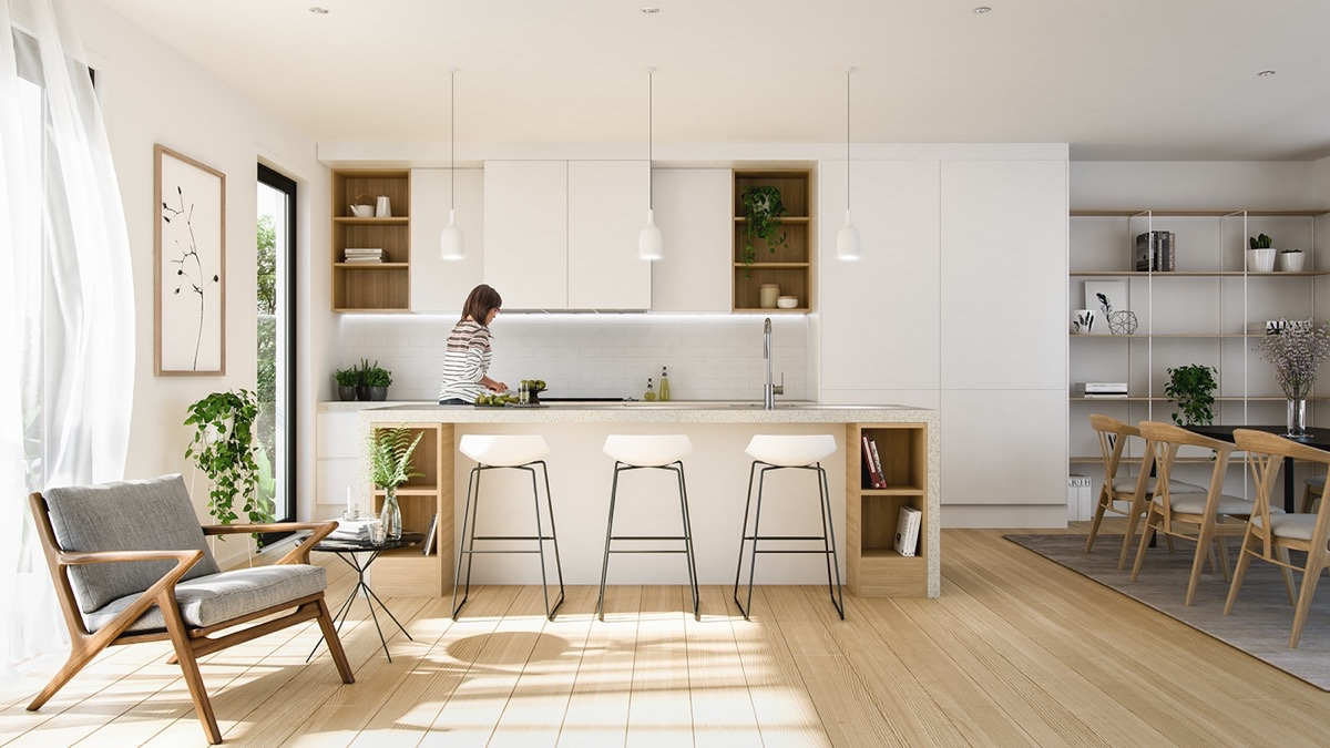 Minimalist Kitchen Design (20)